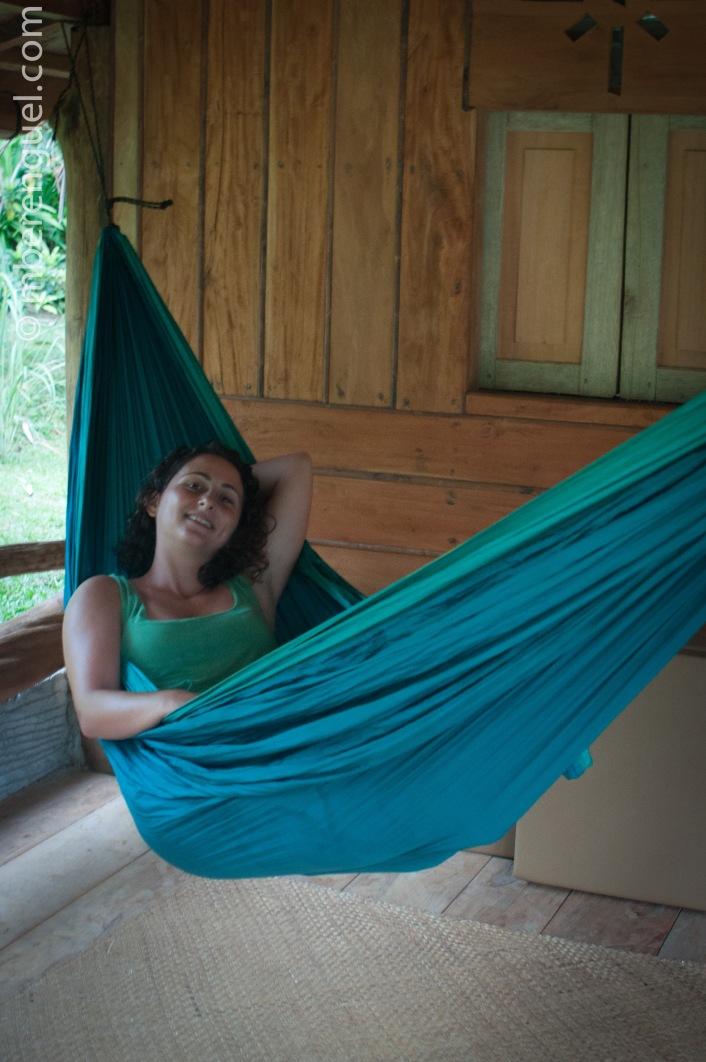 Sanna Relaxing in Bukit Lawang