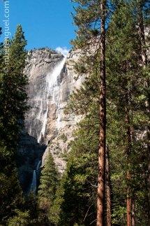 High waterfall in Yosemite