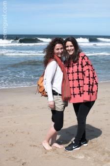 Ana and Susanna in the beach